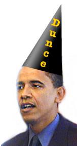 Obama-dunce